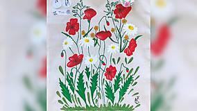 Iné tašky - ♥ Plátená, ručne maľovaná taška ♥ - 9761501_