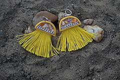 Náušnice - Žlté náušnice - Medúzy - 9762008_