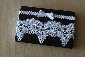 Bielizeň/Plavky - Luxusný svadobný podväzok (set dvoch podväzkov)- P62 - 9762030_