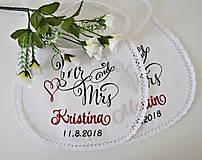 - svadba -podbradníky vyšívané - 9760032_