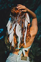 Ozdoby do vlasov - Festivalová čelenka Mermaid - 9761226_