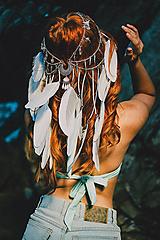 Ozdoby do vlasov - Festivalová čelenka Mermaid - 9761227_