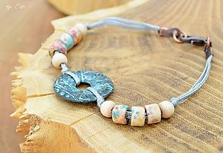 Náramky - Bohemian prívesok ♣ keramické a drevené korálky - 9761757_
