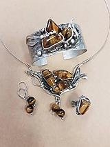 Sady šperkov - Darčeková sada šperkov - Tigrie oko - 9760717_