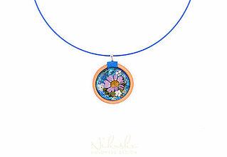 Náhrdelníky - Náhrdelník so sušenými kvetmi - 9759869_