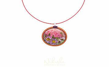 Náhrdelníky - Náhrdelník so sušenými kvetmi - 9759899_