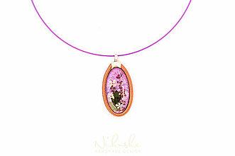 Náhrdelníky - Náhrdelník so sušenými kvetmi - 9759906_