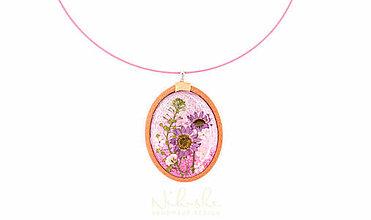 Náhrdelníky - Náhrdelník so sušenými kvetmi - 9759914_
