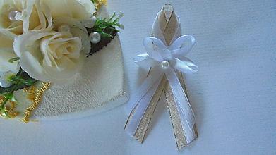 Pierka - Svadobné pierko,lurexovo-biele - 9760109_