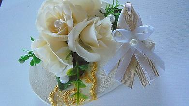 Pierka - Svadobné pierko lurexovo-biele - 9760123_