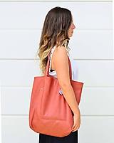 Veľké tašky - Ala (taška) tehlová - 9763604_