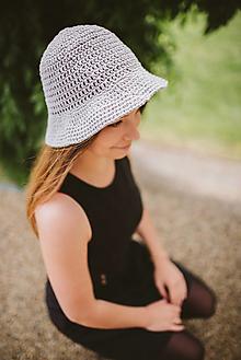Čiapky - Letný klobúk-100% bavlna-grey - 9762915_
