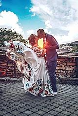 Sukne - sukienka FOLK - srdiečko + doplnky - 9762728_