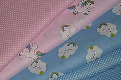 Textil - Látka Obláčiky a koníky - 9763281_