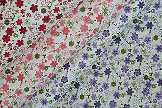 Textil - Látka Kvietky - 9763335_