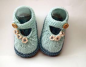 Topánočky - Sandálky pepermintové - 9763421_