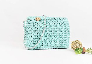 Kabelky - Kabelka háčkovaná Mint elegant - 9763600_
