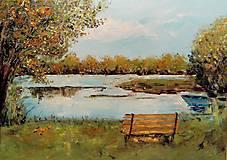 Obrazy - Jeseň pri vode - 9763258_
