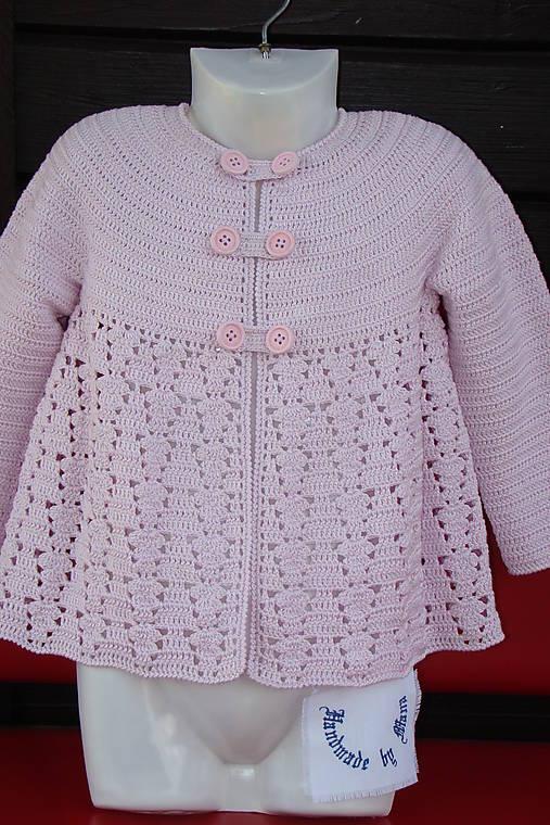 0e4d0b2bd Háčkovaný dievčenský kabátik / mana61 - SAShE.sk - Handmade Detské ...