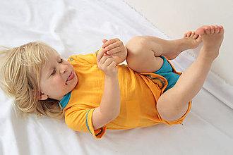Detské oblečenie - Rastúce body - 100% LETNÁ MERINO VLNA, krátky rukáv - výber farieb - 9762794_