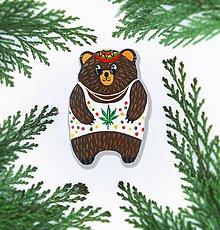 Odznaky/Brošne - Brošnička - Macko (Snoop bear) - 9763493_