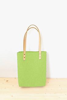 Veľké tašky - Purity... green... 100% prírodná... Merino & koža... 2018 - 9764106_