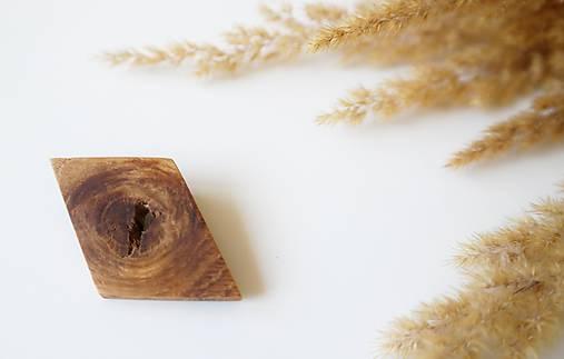 drevená brošňa Oko