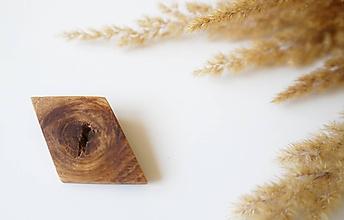 Odznaky/Brošne - drevená brošňa Oko - 9764070_