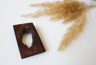 Odznaky/Brošne - drevená brošňa Večnosť - 9764072_