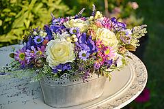 Dekorácie - Vintage dekorácia s ružami - 9763353_