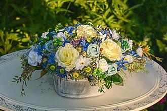 Dekorácie - Celoročná vintage dekorácia s ružami - 9762866_