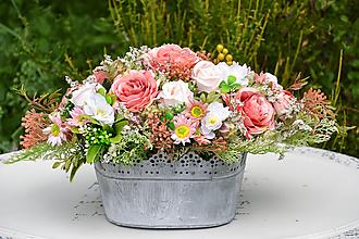 Dekorácie - Vintage dekorácia s ružami - 9763203_