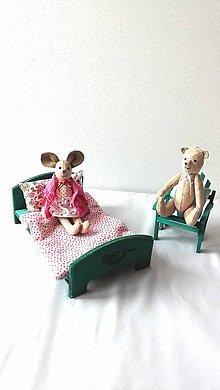 Hračky - Myška a macko s nábytkom - 9762802_