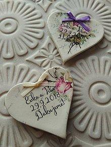 Darčeky pre svadobčanov - vintage magnetky 7x7cm - 9764265_