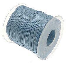Galantéria - SN101 Lesklá šnúrka 1 mm / cena za 1 m (Bledo modrá) - 9763801_