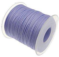 Galantéria - SN101 Lesklá šnúrka 1 mm / cena za 1 m (Bledo fialová) - 9763806_