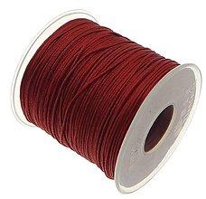 Galantéria - SN101 Lesklá šnúrka 1 mm / cena za 1 m (Tmavo červená) - 9763812_