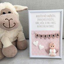 Detské doplnky - Obrázok Anjeliček strážniček ružový - 9763481_