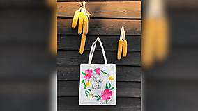 Iné tašky - ♥ Plátená, ručne maľovaná taška ♥ - 9764197_