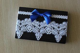 Bielizeň/Plavky - Luxusný svadobný podväzok (set dvoch podväzkov)- P66 - 9764065_