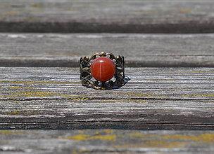 Prstene - Červený achát prsteň - 9763716_