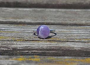 Prstene - Ametyst prsteň Ag 925 - 9763846_