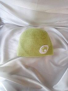 Detské čiapky - zelienkavá čiapočka - 9763533_