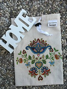 Úžitkový textil - Zero Waste Sťahovacie Ekologické vrecúško. - 9762971_