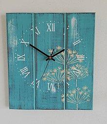 Hodiny - Nástenné hodiny - tyrkysové - 9764998_