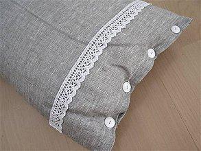 Úžitkový textil - Ľanová obliečka na vankúš - 9765972_