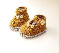 Topánočky - Sandálky medové - 9765416_