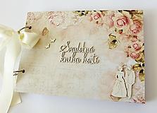 Papiernictvo - svadobná kniha hostí - 9765266_