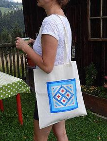 Nákupné tašky - Plátená nákupná taška - geometria - 9766802_