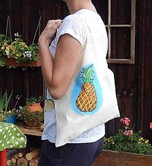 Nákupné tašky - Plátená nákupná taška - príchuť ananás - 9766804_